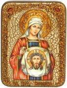 Икона ручной работы Вероника Праведная с камнями
