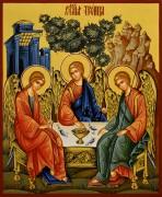 Рукописная икона Святая Троица 21 (Размер 17*21 см)