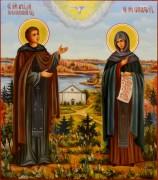 Семейная икона масло Аркадий Новоторжский и Елисавета Чудотворица 87