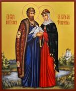 Рукописная икона Петр и Феврония 86 (Размер 21*25 см)
