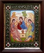 Икона из финифти Святая Троица 22 (Размер 10*12 см)