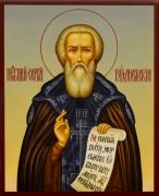 Рукописная икона Сергий Радонежский 23 (Размер 13*16 см)