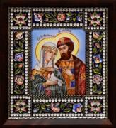Икона из финифти Петр и Феврония 4 (Размер 14*16 см)
