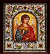 Икона из финифти Ангел Хранитель 76 (Размер 14*16 см)