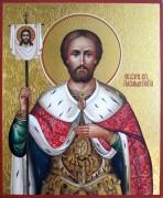 Рукописная икона Александр Невский 32