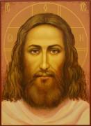 Рукописная икона Спаситель 45