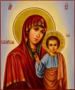 Рукописная Казанская икона масло 43 (Размер 17*21 см)