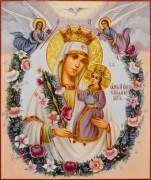 Рукописная икона Неувядаемый Цвет масло 43