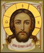 Рукописная икона Спас Нерукотворный под старину 40 (Размер 13*16 см)
