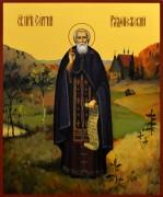 Рукописная икона Сергий Радонежский 26 (Размер 17*21 см)