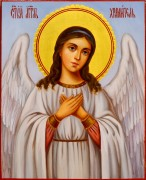 Рукописная икона Ангел Хранитель масло 84 (Размер 13*16 см)