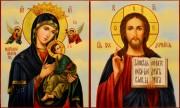 Венчальная пара Неустанной Помощи и Спаситель масло