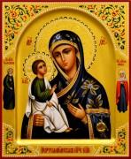 Рукописная икона Иерусалимская с мощевиком 3 (Размер 17*21 см)