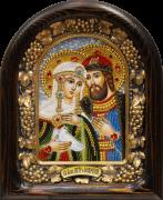 Икона из бисера Петр и Феврония 2 (Размер 18*23 см)