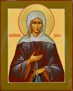 Рукописная икона Ксения Петербургская 8 (Размер 13*16 см)