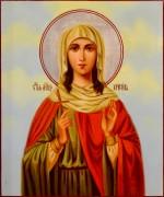 Рукописная икона Христина Кесарийская масло
