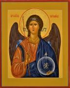 Рукописная икона Архангел Михаил 23 (Размер 17*21 см)