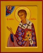 Рукописная икона Никита Новгородский 2