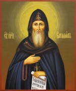 Рукописная икона Варлаам Важский