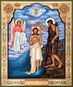 Резная икона Крещение Господне