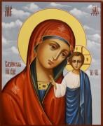 Рукописная икона Казанская 52 (Размер 13*16 см)