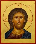 Рукописная икона Спас Вседержитель 49 (Размер 14*18 см)