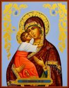 Рукописная Владимирская икона с резьбой 22 (Размер 22*28 см)
