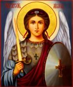 Рукописная икона Архангел Михаил масло 2 (Размер 17*21 см)