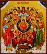 Рукописная икона Собор Архангела Михаила 5 (Размер 27*31 см)