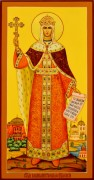 Рукописная икона Елена Равноапостольная 11 (Размер 13*25 см)