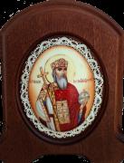 Икона из финифти Владимир Равноапостольный (Размер 14*16 см)