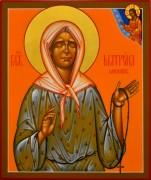 Рукописная икона Матрона Московская 19 (Размер 17*21 см)