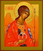 Рукописная икона Архангел Михаил 25 (Размер 21*25 см)