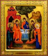 Рукописная икона Святая Троица с Авраамом и Саррой (Размер 27*31 см)