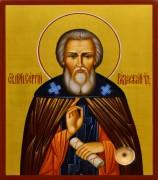 Рукописная икона Сергий Радонежский 28