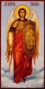 Рукописная икона Архангел Михаил 26 (Размер 13*25 см)