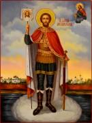 Рукописная икона Александр Невский масло 34 (Размер 30*40 см)