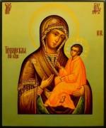 Рукописная Тихвинская икона 6 (Размер 21*25 см)