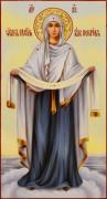 Рукописная икона Покров масло 13 (Размер 13*25 см)