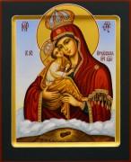 Рукописная икона Почаевская