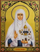Рукописная икона Елизавета (Елисавета) Федоровна 7 (Размер 30*40 см)