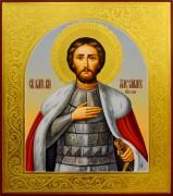 Рукописная икона Александр Невский 39 (Размер 27*31 см)