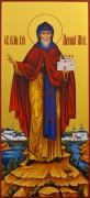 Рукописная мерная икона Даниил Московский 3