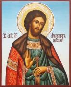 Рукописная икона Александр Невский 41