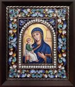 Икона из финифти Иерусалимская (Размер 14*16 см)
