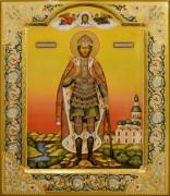 Рукописная икона Александр Невский с резьбой 43 (Размер 27*31 см)