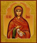 Рукописная икона Анна Пророчица 3