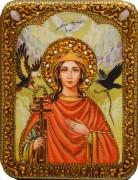 Икона ручной работы Ирина Македонская с камнями