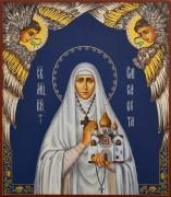 Рукописная икона Елизавета Федоровна с херувимами