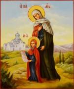 Рукописная икона Анна Праведная масло 7